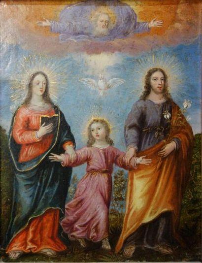 ECOLE FLAMANDE du XVIIe siècle La sainte...