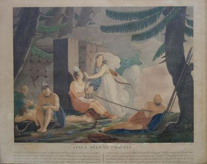 Ecole française du XIXe siècle Suite incomplète...