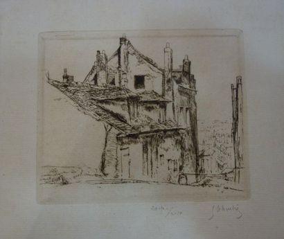 Gustave LEHEUTRE (1861 - 1932). Rue d'un...