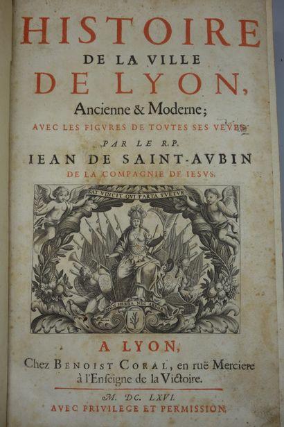 SAINT AUBIN (Jean de). HISTOIRE DE LA VILLE...