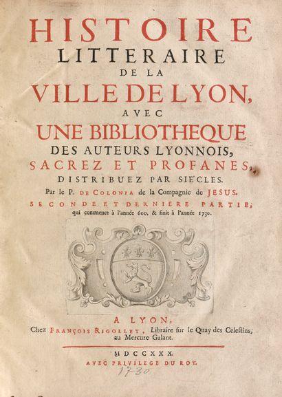 COLONIA (Dominique de). HISTOIRE LITTÉRAIRE...