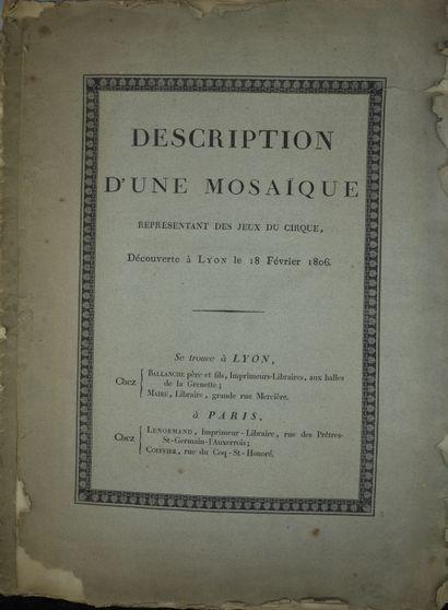 ARTAUD (F.). DESCRIPTION D'UNE MOSAIQUE REPRÉSENTANT...