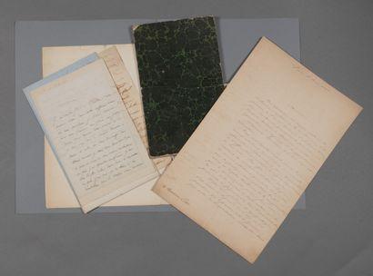 Antoine Etex]. 21 lettres et 1 manuscrit....