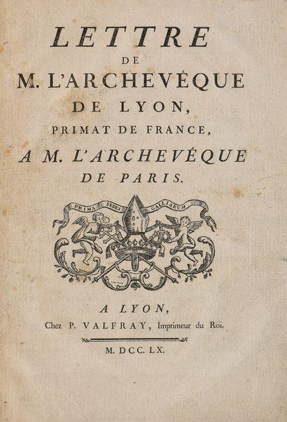 [MALVIN DE MONTAZET (Antoine de). LETTRE...