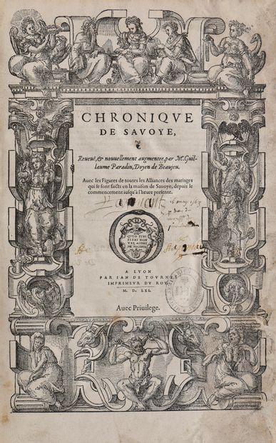 PARADIN Guillaume, Doyen de Beaujeu. CHRONIQUE...