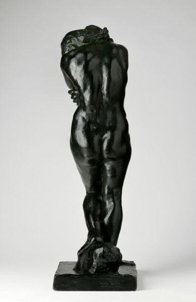 Auguste Rodin (1840-1917). Eve, petit modèle- modèle à la base carrée et aux pieds...