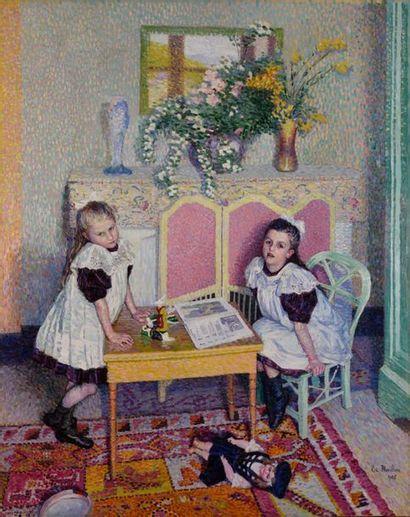 Etienne Morillon (1884-1949). Les deux petites soeurs (Les Soeurs Coursanges), 1908....