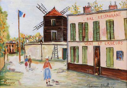 Maurice UTRILLO (1883-1955). Le Moulin de...