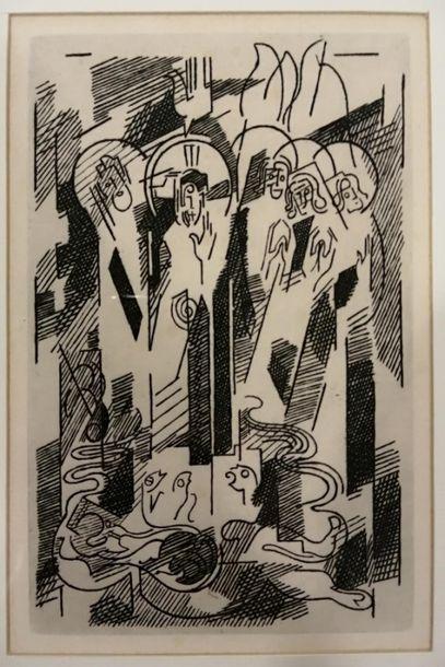Albert GLEIZES (1881-1953). Le baptême du...
