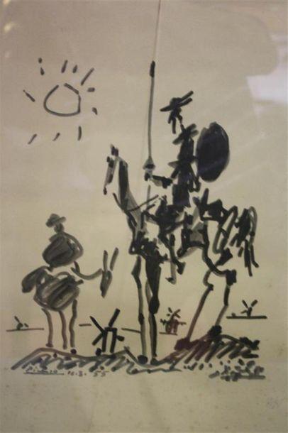 D'après Pablo Picasso ( 1881-1973) Don Quichotte...