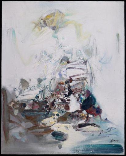 Chu Teh-Chun (1920-2014) Composition n°467, 1972. Huile sur toile. Signé en bas...