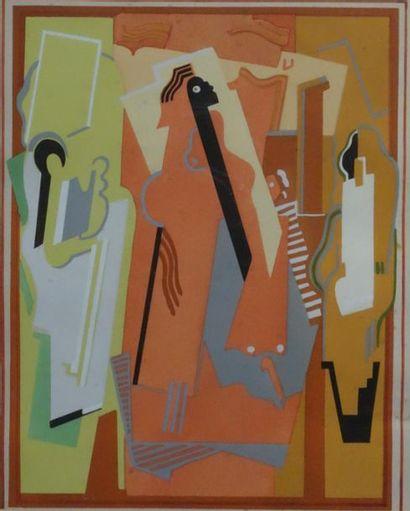 Albert GLEIZES (1881-1953). Peinture à trois...