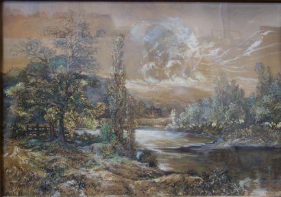 Ecole européenne début XXème siècle. La rivière,...