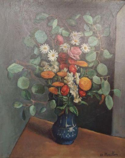 Etienne Morillon (1884-1949) Fleurs dans...