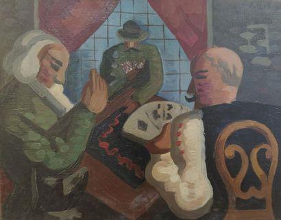 Constant Rey-Millet (1905-1959). Les joueurs...