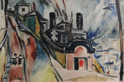 Jacques LAPLACE (1890-1955). Rue sur les...