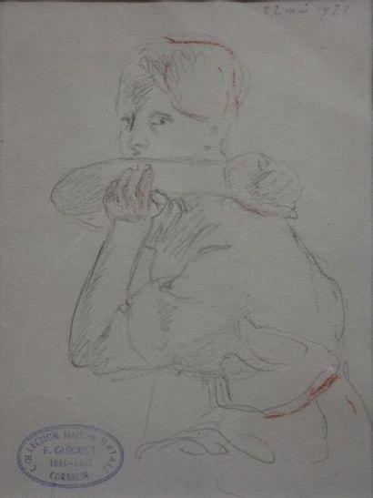 François Guiguet (1860-1937). Portrait, 1921....