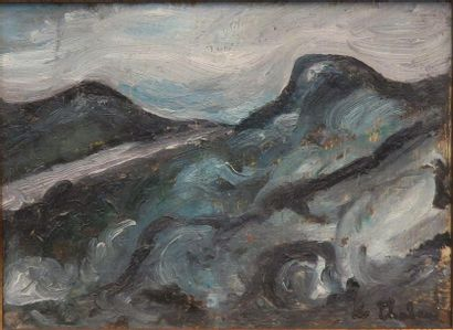 Auguste Chabaud (1883-1955) Paysage montagneux...