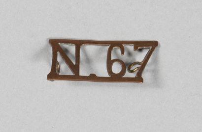 N67. Escadrille de chasse, insigne d'épaule...