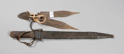 Couteaux africains incomplets, lot de 3.