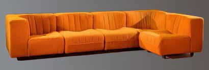 Canapé modulaire de Tito Agnioli édition...