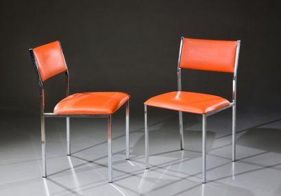 Paire de chaises, travail français dans le...
