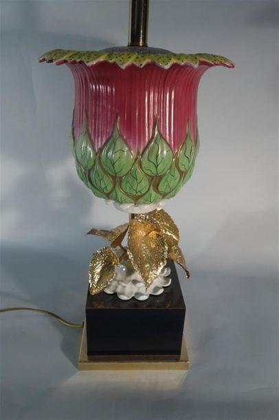 TRAVAIL CONTEMPORAIN Lampe de table à une...