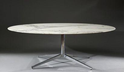 Table de repas ovale de Florence Knoll édition...