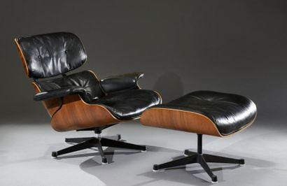 Lounge Chair -671 avec son ottoman de Charles...