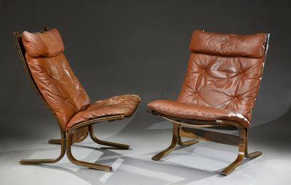 Paire de fauteuils Siesta par Igmar Relling,structure...
