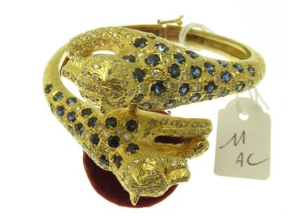 1 important bracelet rigide ouvrant monture...