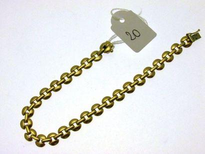 1 bracelet souple or alternant maillons circulaires...