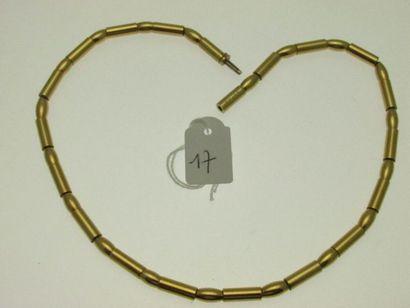 1 collier monture or (gainage en résine)...