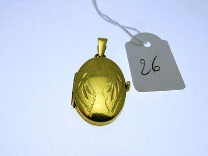 1 médaillon porte-souvenir monture or au...