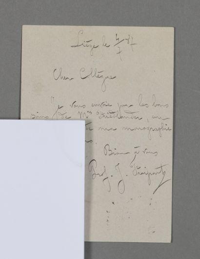 Julien Fraipont (1857-1910), zoologue et...