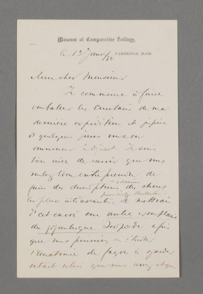 Alexander Agassiz (1835-1910), zoologiste...