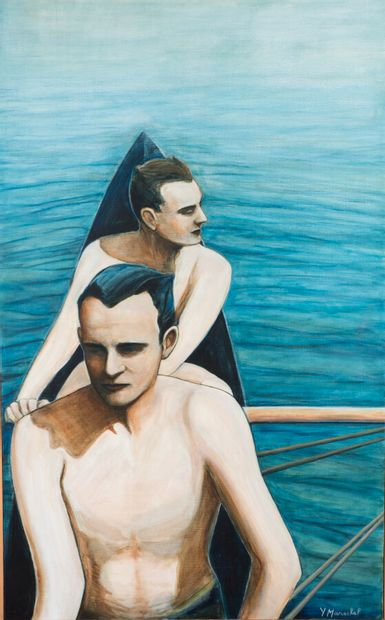 Yves Maréchal (né en 1954).  Les rameurs....