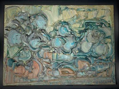 André Cottavoz (1922-2012).  Les oliviers,...