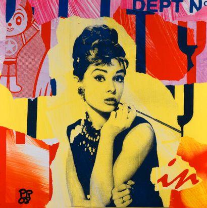 PR ( ?)  Audrey Hepburn, 2008.  Sérigraphie...