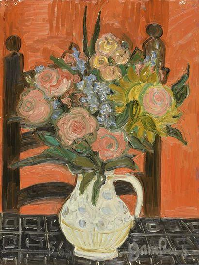 Simone Gambus (1928-2015)  Bouquet de fleurs,...