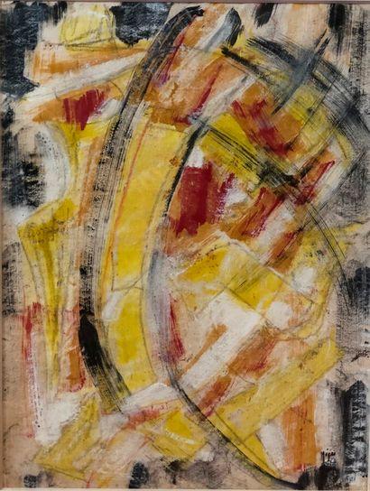 Nina NEGRI (1909-1981).  Abstraction.  Gouache...
