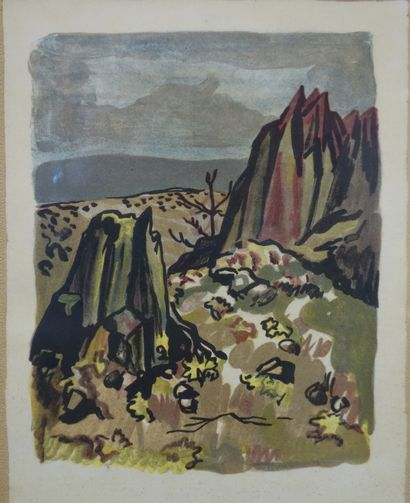Yves Brayer (1907-1990).  Paysage.  Reproduction...