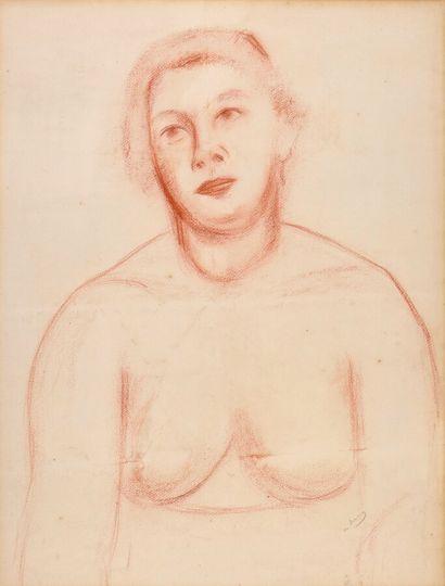 André DERAIN (1880-1954).  Buste de jeune...