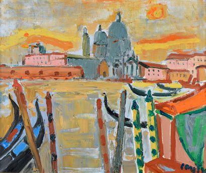 Jean Couty (1907-1991).  Venise.  Huile sur...