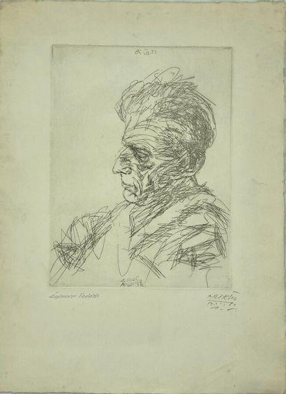 Avigdor ARIKHA (1929-2010).  Portrait de...
