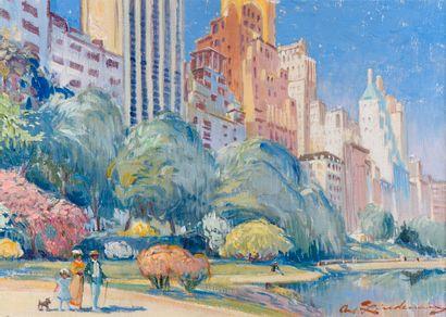 Martin LINDENAU (né en 1948).  Central Park,...
