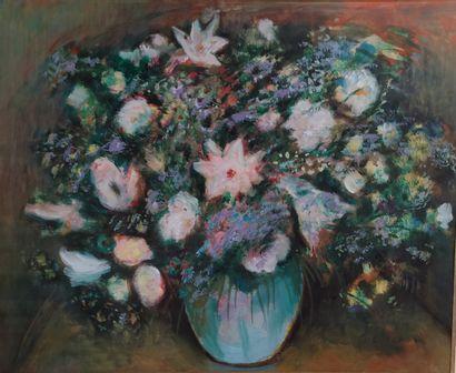 André Ackermann (1896-1991).  Fleurs.  Gouache...