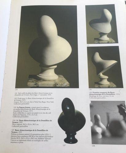 Salvador Dali (1904-1989).  Buste Rhinocérontique de la Dentellière de Vermeer,...