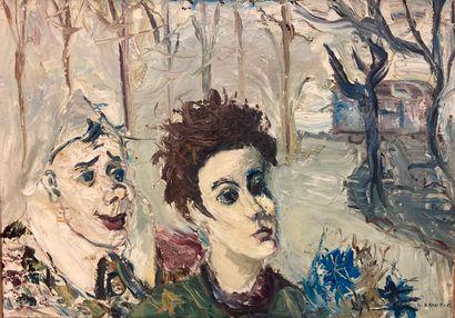 Gabriel Dauchot (1927-2005).  Clown blanc...