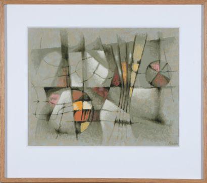 Robert Pernin (1895-1975).  Composition abstraite....